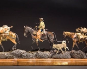 "Bronze sculpture, ""Rocky Mountain Trail Partners"", Limited Edition of 75, Made to Order by James Regimbal, #993"