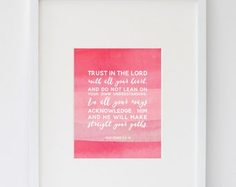 Trust in the Lord Pink Print