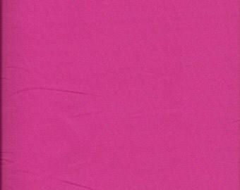 New Painters Palette Rosebud (Dark Pink) Solid 100% Cotton Fabric by theYard and half yard