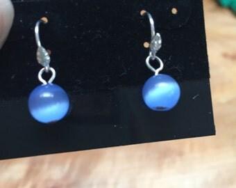 Sterling silver and lavendar bead earrings