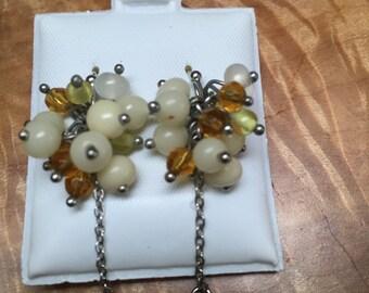Funky beaded earrings