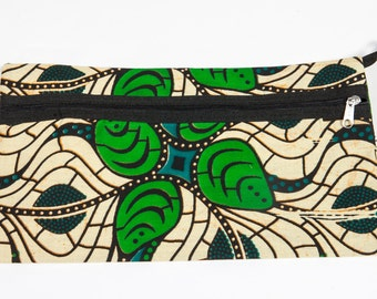 African print cosmetic or stationery purse
