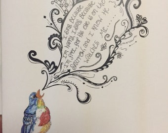 His Eye is On the Sparrow - Verse - Notecards