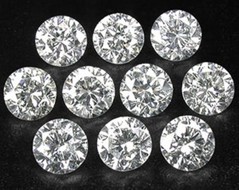 10pc VS 1.8mm to 2.7mm Loose MELEE Real Diamonds for Jewelry
