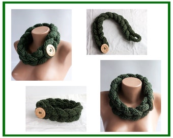 Infinity Scarf,Chunky Scarf, Circle Scarf, Gifts For Her, Loveknittings