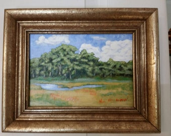 Small Landscape Painting by Ann Kronick, The Farm