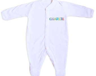 Personalised MONSTER BABY GROW, New Baby Gift, Baby Grow, Baby Clothing 0-3 months
