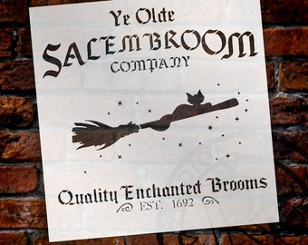 Salem Broom Co. - Word Art Stencil - Select Size - STCL1281 by StudioR12