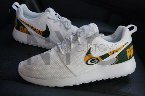 a250d0fa747d good Green Bay Packers Nike Roshe One Run Triple White Football. Men · Shoes