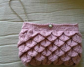Crochet wristlet/clutch purse