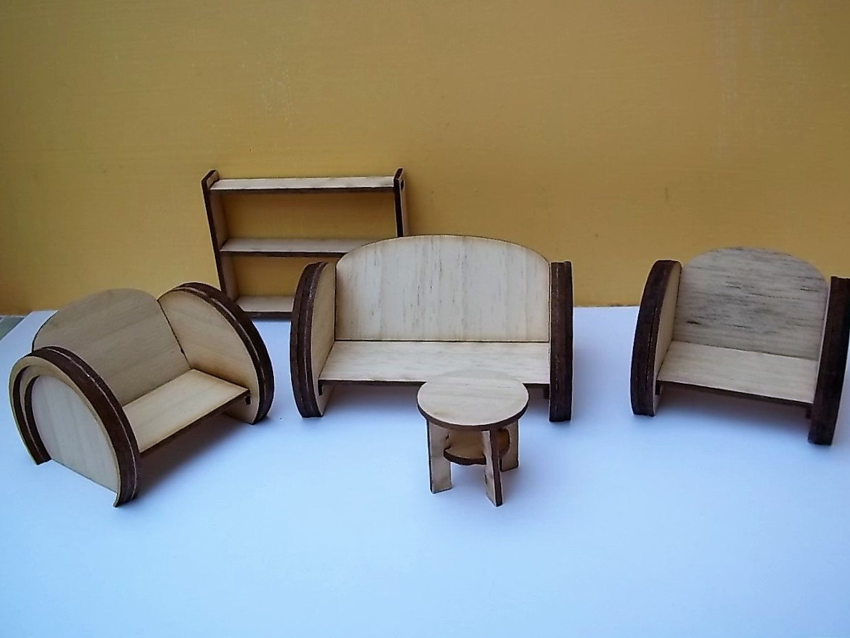 1 24th art deco style lounge suite kit for Art deco style lounge