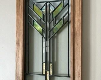 Prairie Style Art Glass Lightscreen Panel