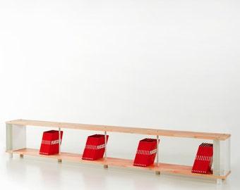 etagere design bois etsy. Black Bedroom Furniture Sets. Home Design Ideas