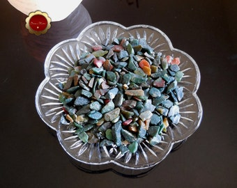 4 oz Bloodstone Mini Chips, Tumbled Bloodstone Chips, Undrilled Chips, Tumbled Stones for Grids, Chips for Crafts & Jewelry, Reiki Healing