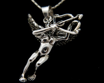 Sterling Silver Cupid Necklace