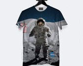 Space Cadet T-Shirt - All Over Print - Unisex - S, M, L, XL, XXL, 3XL | Made to Order |