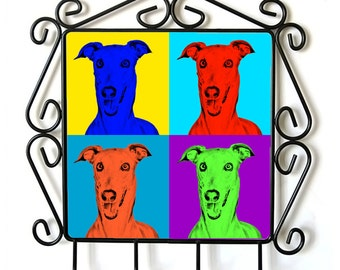 Italian Greyhound- clothes hanger with an image of a dog. Collection. Andy Warhol Style