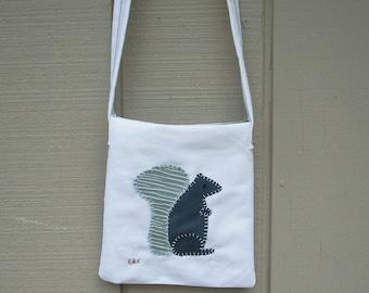 Squirrel #3 Small Tote Fabric Art