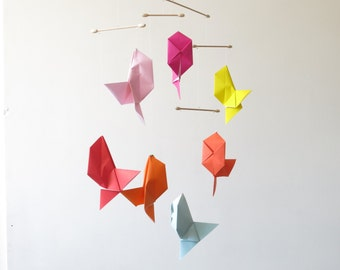 RESERVED /Mobile geometric origami fishes