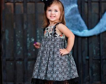 Girls Halloween Dress - Toddler Halloween Dress - Girl Halloween - Fall Dress - Girls Dress - Toddler Clothing - Toddler Dress - Halloween