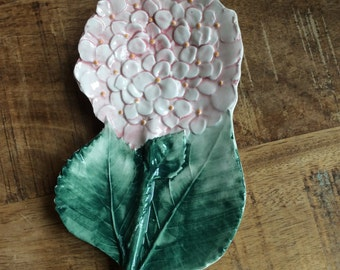 Hydrangea trinket tray or spoon rest made in Italy