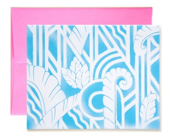 Airbrush Art Deco Notecard