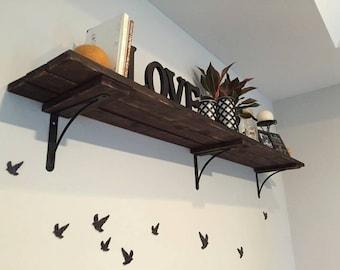Rustic Shutter Shelf