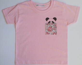 Panda Pocket Tshirt - girls