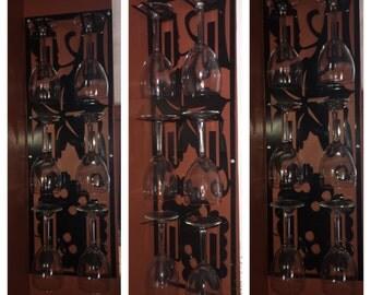 Metal Hanging Wine Glass Rack, wine glass