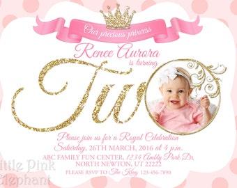Royal Princess invitation - Princess invitation - Royal princess birthday invitations - princess invites - Princess birthday - Royal prince