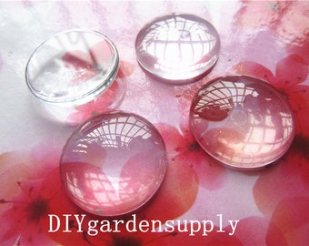 New Products--50pcs 25mm glass cabochon round domed glass