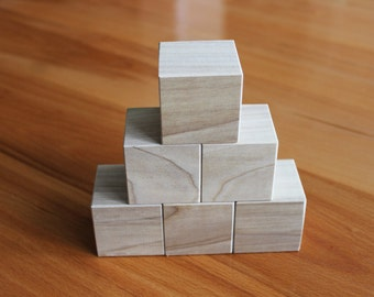 15 Square wood blocks, wood building blocks, all natural wooden toy. Handmade Wood block set. Baby Shower Blocks, Decorating Blocks
