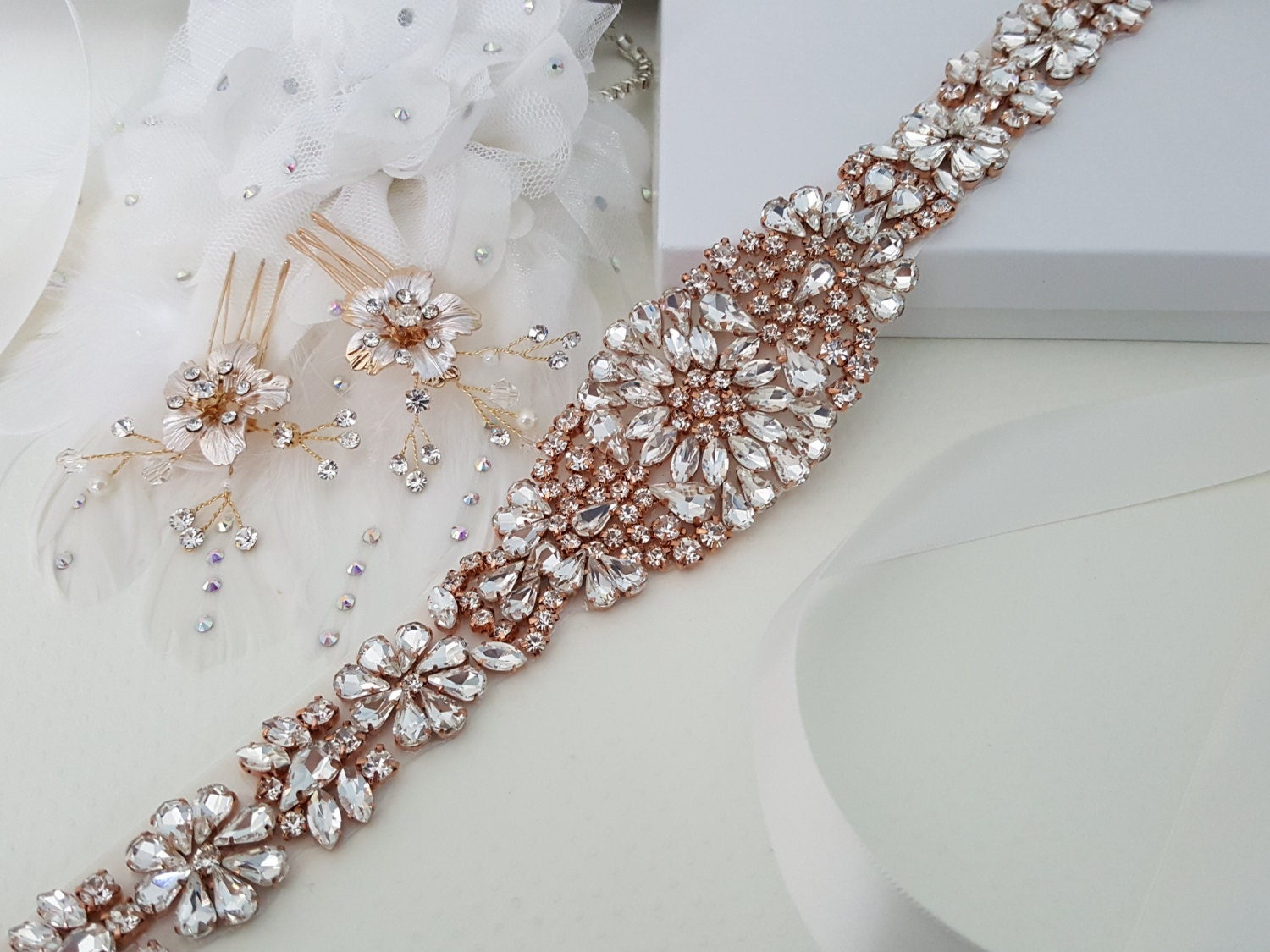 Rose Gold Wedding Accessories Rose Gold Bridal Accessories