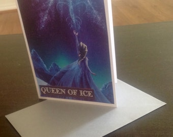 Frozen Elsa Blank Card