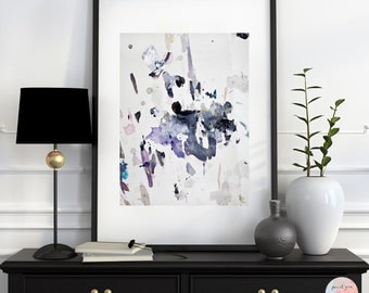 Abstract painting SP No. 4 / painting mix media, fine art print. Dated and signed on the back