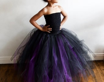 Halloween Witch Dress & Black Witch Hat age 3 - 12 yrs