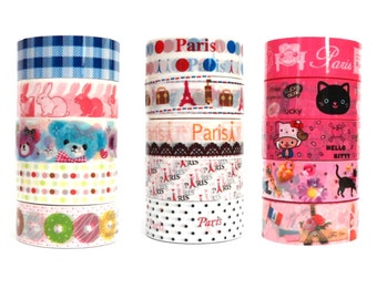 Kawaii Adhesive Deco Tape 5 pcs