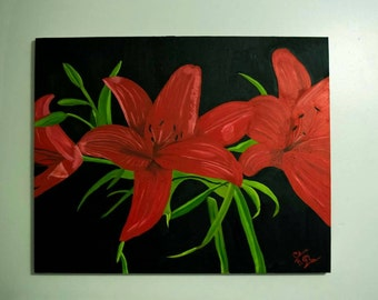 Lillies in the black