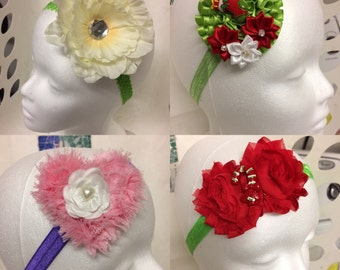 Various headband with lavish embellishments.
