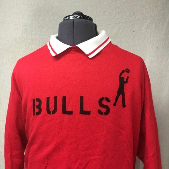 80s chicago bulls pullover vintage nba oversized red sweatshirt 2x. Black Bedroom Furniture Sets. Home Design Ideas