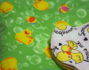 PRICES REDUCED! ~ Duck Themed Baby Bundle ~ Includes a 40 x 40 blanket and 2 contoured burp cloths *Store Closing Sale! *