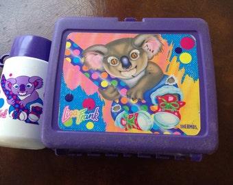 Lisa Frank koala lunchbox and thermos