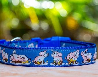 Pig Dog Collar / XS-XL / Australian Made Dog Collar / Cartoon Dog Collar