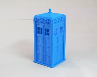 Doctor Who Tardis Blue Police Box Homemade Toy Figure 3D Printed
