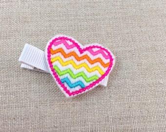 Girls hair clip, Girls heart hair clip, Heart shaped  hair clip, Hair clips for little girls, Toddlers hair clips, Girls hairclips