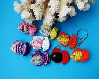 Crochet keychain/Crochet Cat/ Amigurumi Cat/ Cat by croshka