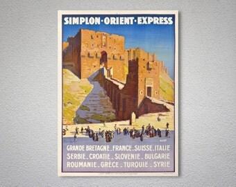 Simplon Orient Express Vintage Travel Poster - Poster Print, Sticker or Canvas Print