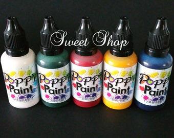 5 Pcs. Primary Colors Poppy Paint Set