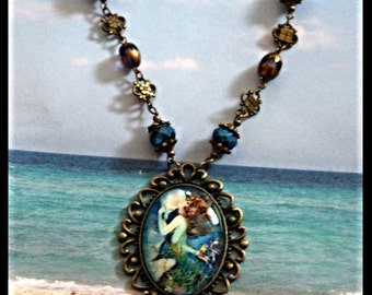 Vintage Magical Mermaid Necklace