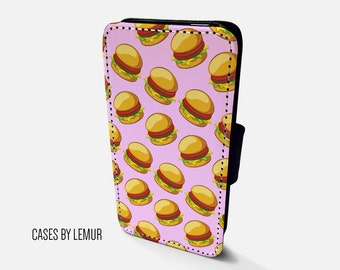 BURGER Iphone 6 Plus Wallet Case Leather Iphone 6 Plus Case Leather Iphone 6 Plus Flip Case Iphone 6 Plus Leather Wallet Case Leather Phone